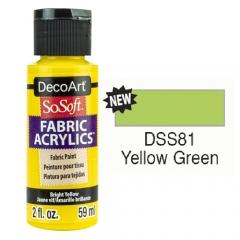 SoSoft Fabric Color-2oz(59ml)-DSS81-YELLOW GRN