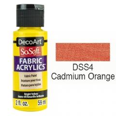 SoSoft Fabric Color-2oz(59ml)-DSS04-CADMIUM ORANGE