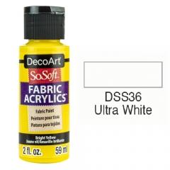 SoSoft Fabric Color-2oz(59ml)-DSS36-ULTRA WHITE