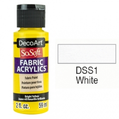 SoSoft Fabric Color-2oz(59ml)-DSS01-WHITE
