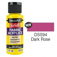 SoSoft Fabric Color-2oz(59ml)-DSS94-Dark Rose