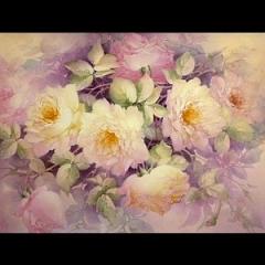 특가판매ST09-Large Pink & Yellow Rose Tile Study