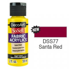 SoSoft Fabric Color-2oz(59ml)-DSS77-Santa Red