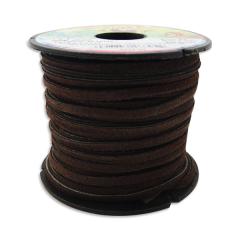 5027-02 Leathercraft Lace 3.1mm x 22.8m Dk.Brown
