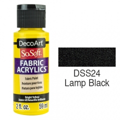 SoSoft Fabric Color-2oz(59ml)-DSS24-Lamp Black