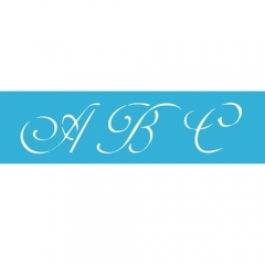 "AS102 3"" Monogram Alphabet Stencil (contains 3 sheets)"