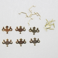 1124-Brass Chip Draw Pull 6set-미니어쳐용