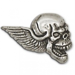71502-13 Winged Skull Concho Right Face 1``