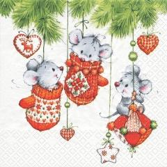 611227-3 Cute Christmas Friends 넵킨페이퍼(20매)