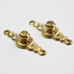 1105-Brass Provincial Knob 2pc-미니어쳐용