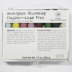 [특가판매]CR208- Underglaze Chalk Crayons - LEAD FREE(8SET)