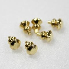 1116-Plain Brass Knob 6pc-미니어쳐용