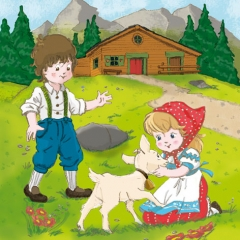 211504-Heidi & Peter in the Alps 넵킨페이퍼(20매)