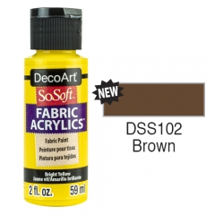 SoSoft Fabric Color-2oz(59ml)-DSS102-Brown