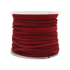 5014-07 Suede Lace 1/8`` x 25 yds. (0,3 cm x 22.9 m) Red